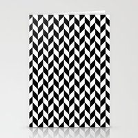herringbone Stationery Cards featuring Herringbone. by ∞ ♡ ☮