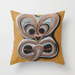 #Tiki Throw Pillow