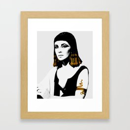 black & gold Cleo Framed Art Print