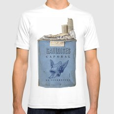 Gauloises 20 Cigarettes France Vintage Pack 1968 Mens Fitted Tee MEDIUM White