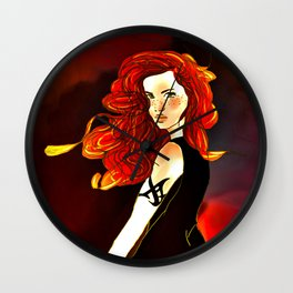 Clary Fray from The Mortal Instruments by Cassandra Clare Wall Clock