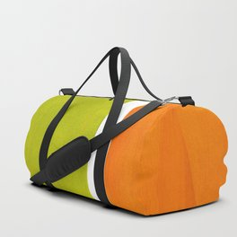 Retro Lime Green Minimalist Abstract Color Block Rothko Midcentury Modern Art Duffle Bag