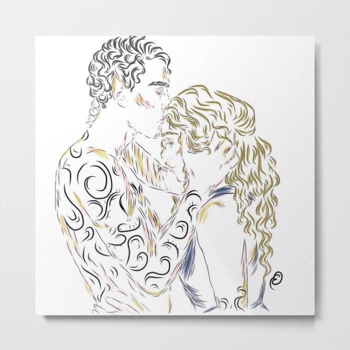Feyre and Rhys Metal Print