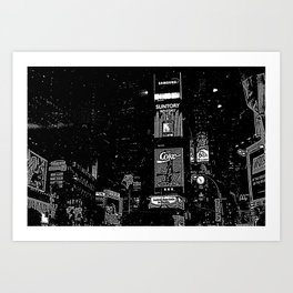 Times Square at Night in '98 Art Print
