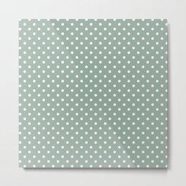 Pattern of the golden days polka dot design Metal Print