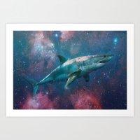 space shark Art Print