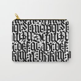 typography pattern 1 - old gothic calligraphy design, seamless Carry-All Pouch