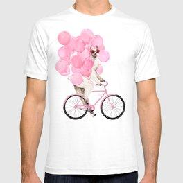 Riding Llama with Pink Balloons #1 T-shirt