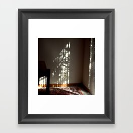 Window Light on Wall Framed Art Print