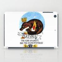 platypus iPad Cases featuring Platypus by Ricardo Cavolo