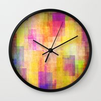 carnival Wall Clocks featuring Carnival by SensualPatterns