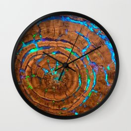 Sea of blue opal Wall Clock