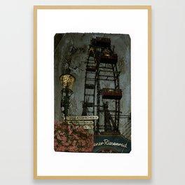 Vienna wheel Framed Art Print