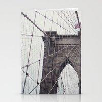 brooklyn bridge Stationery Cards featuring Brooklyn Bridge by Kameron Elisabeth