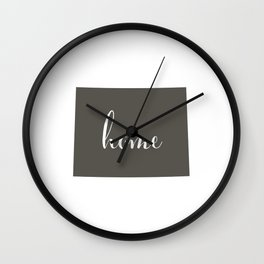 Wyoming is Home Wall Clock