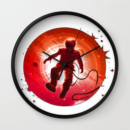 Flying Astronaut in the Space Wall Clock