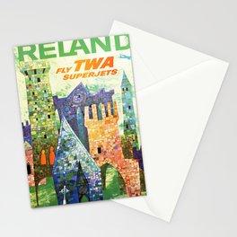 retro Ireland retro poster Stationery Cards