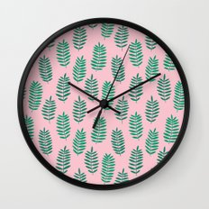 Pattern Project #42 / Ferns Wall Clock