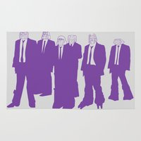 reservoir dogs Area & Throw Rugs featuring Reservoir Decepticons by OrangeHalo