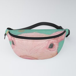 Oil painting pink piggy/piglet Fanny Pack
