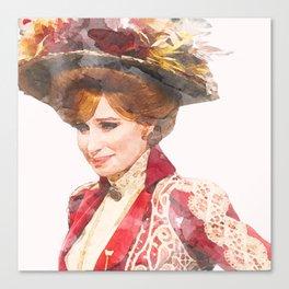 Hello, Dolly! - Barbra Streisand - Watercolor Canvas Print