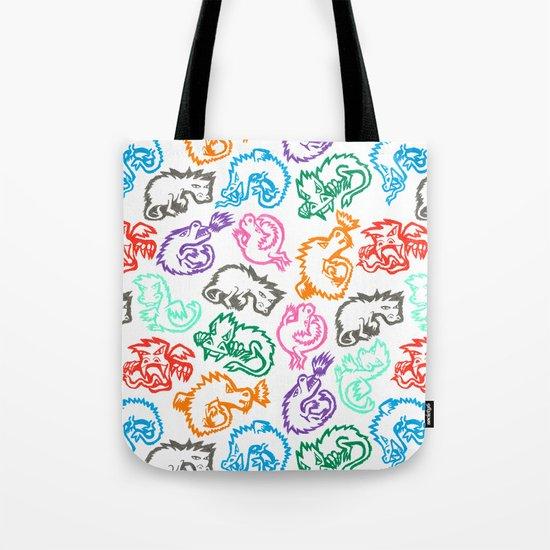 Crayon Love: Dragons Tote Bag