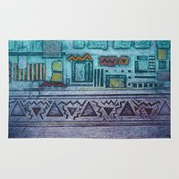 egypt Area & Throw Rugs featuring Memories of Egypt by Maureen Mitchell
