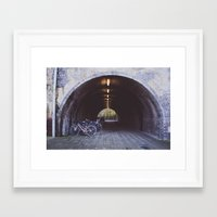 bicycles Framed Art Prints featuring Bicycles by Megan Curran