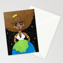 Be the queen of your own world Stationery Cards