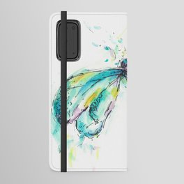 Watercolor Dragonfly Android Wallet Case