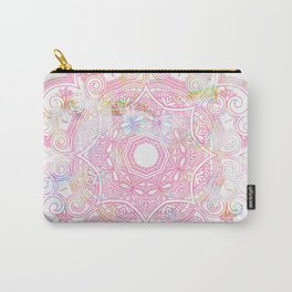 Pastel pink mandala ornament design Carry-All Pouch