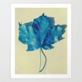 Blue Leaf 2 Art Print