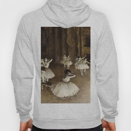Edgar Degas - Ballet Rehearsal On Stage Hoody