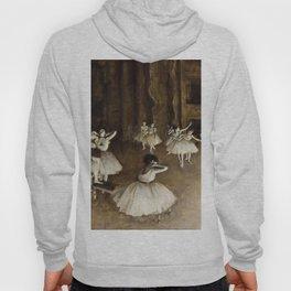 Edgar Degas - Ballet Rehearsal On Stage Hoody