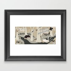shadows over maplewood Framed Art Print