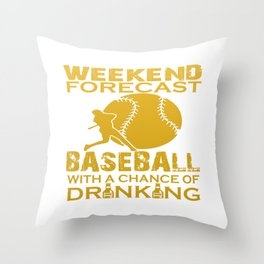 WEEKEND FORECAST BASEBALL Throw Pillow