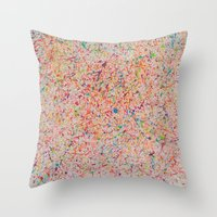 sprinkles Throw Pillows featuring Sprinkles by Candy Circles