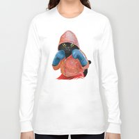 jazzberry Long Sleeve T-shirts featuring Boxing Cat 2  by Tummeow