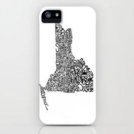 Typographic New York iPhone Case