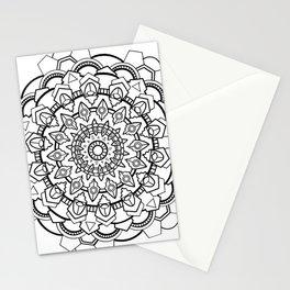Snow Mandala Stationery Cards