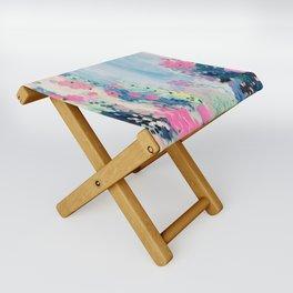 'Garden rain' oil painting on canvas Folding Stool
