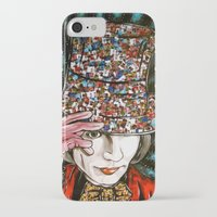 willy wonka iPhone & iPod Cases featuring Johnny Depp as Willy Wonka by Portraits on the Periphery