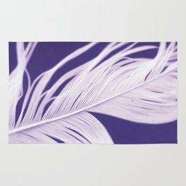 Purple feather Rug