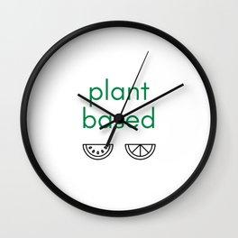 PLANT BASED - VEGAN Wall Clock