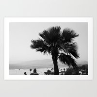 LA Palm tree Art Print