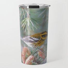 A Townsend's Warbler Spruces Up Travel Mug