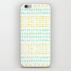 Striped dots and dashes iPhone & iPod Skin