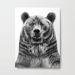 Wilson the Bear Metal Print