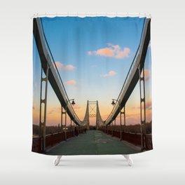 Pedestrian bridge in Kiev Shower Curtain