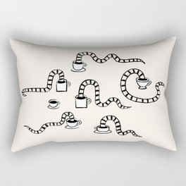 Some Snakes Love Coffee Rectangular Pillow